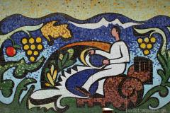 mosaic on branch of Sokhumi University in Tbilisi